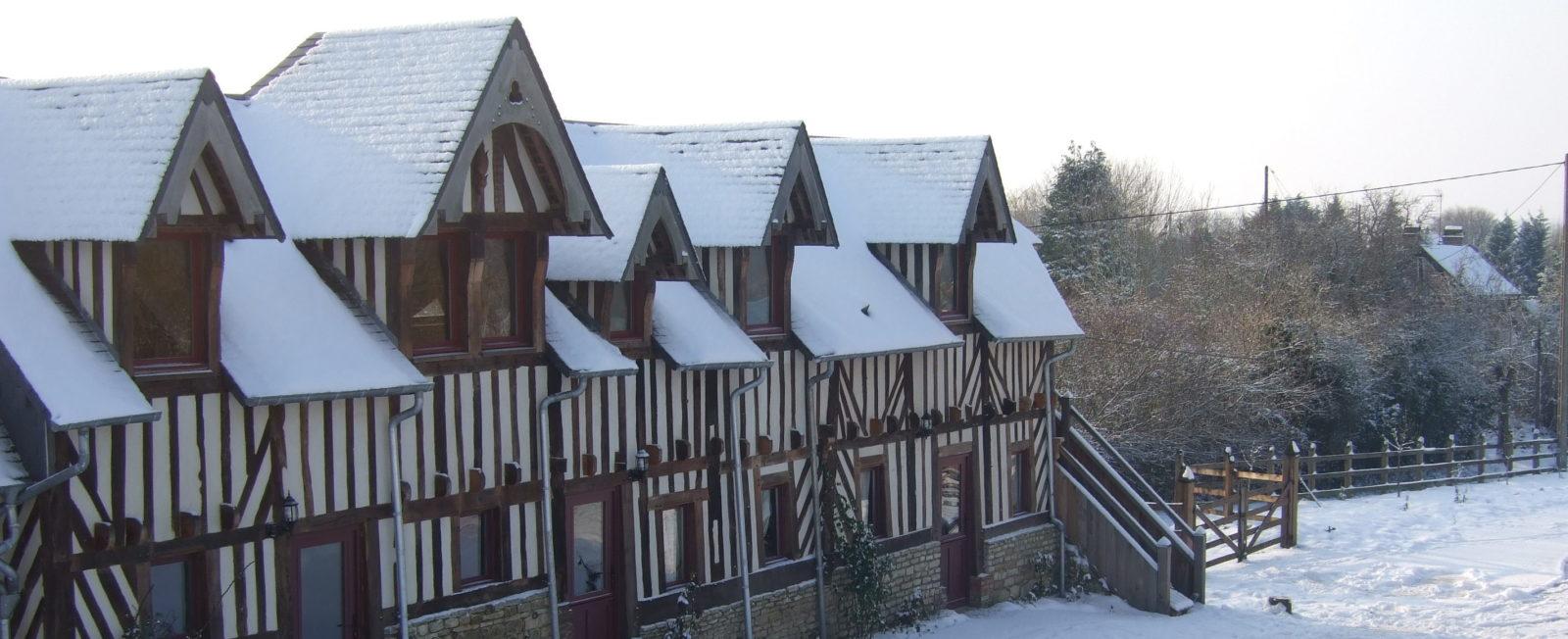 Manoir de Pontfol sous la neige