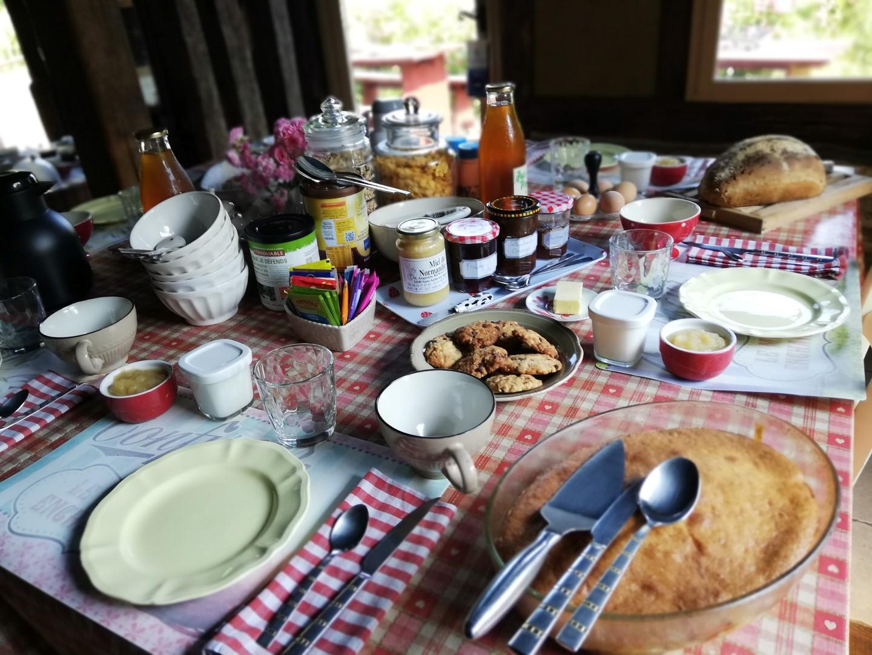 Petit déjeuner aux Chambres de Pontfol